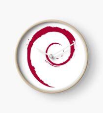 Debian Linux Logo - No Text Version Clock