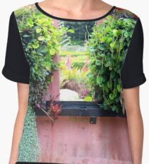 Looking through the window, nature Chiffon Top