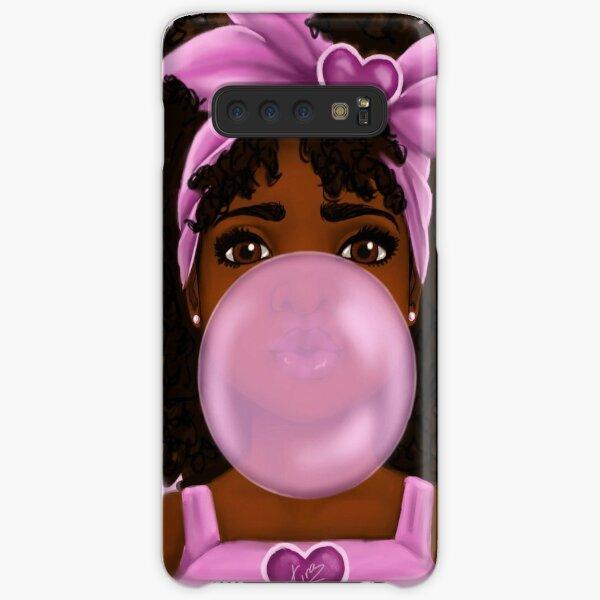 Bubble Gum- Little Black Girl Portrait Samsung Galaxy Snap Case