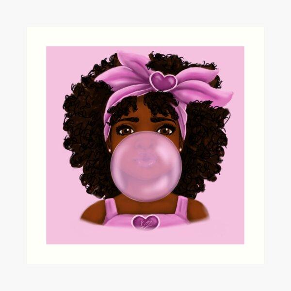 Bubble Gum | Little Black Girl Portrait Art Print