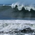 Waves at Newcastle Beach NSW by Bev Woodman