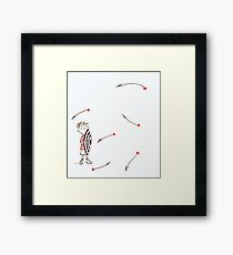 Arrows of love for him Framed Print