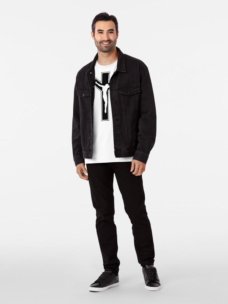 Alternate view of Cross (in black) Premium T-Shirt