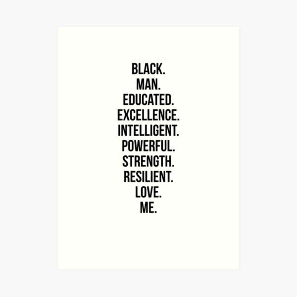 Strong Black Man   Black Power   African American Art Print