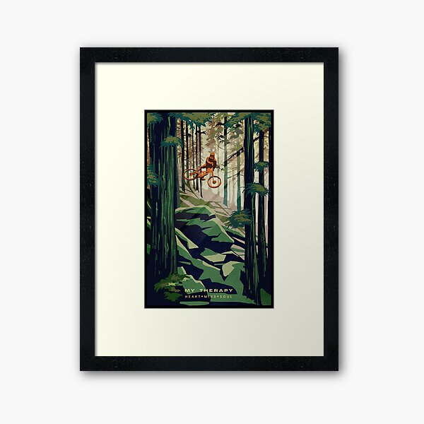MY THERAPY: Mountain Bike! Framed Art Print