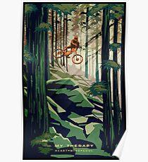 MEINE THERAPIE: Mountainbike! Poster