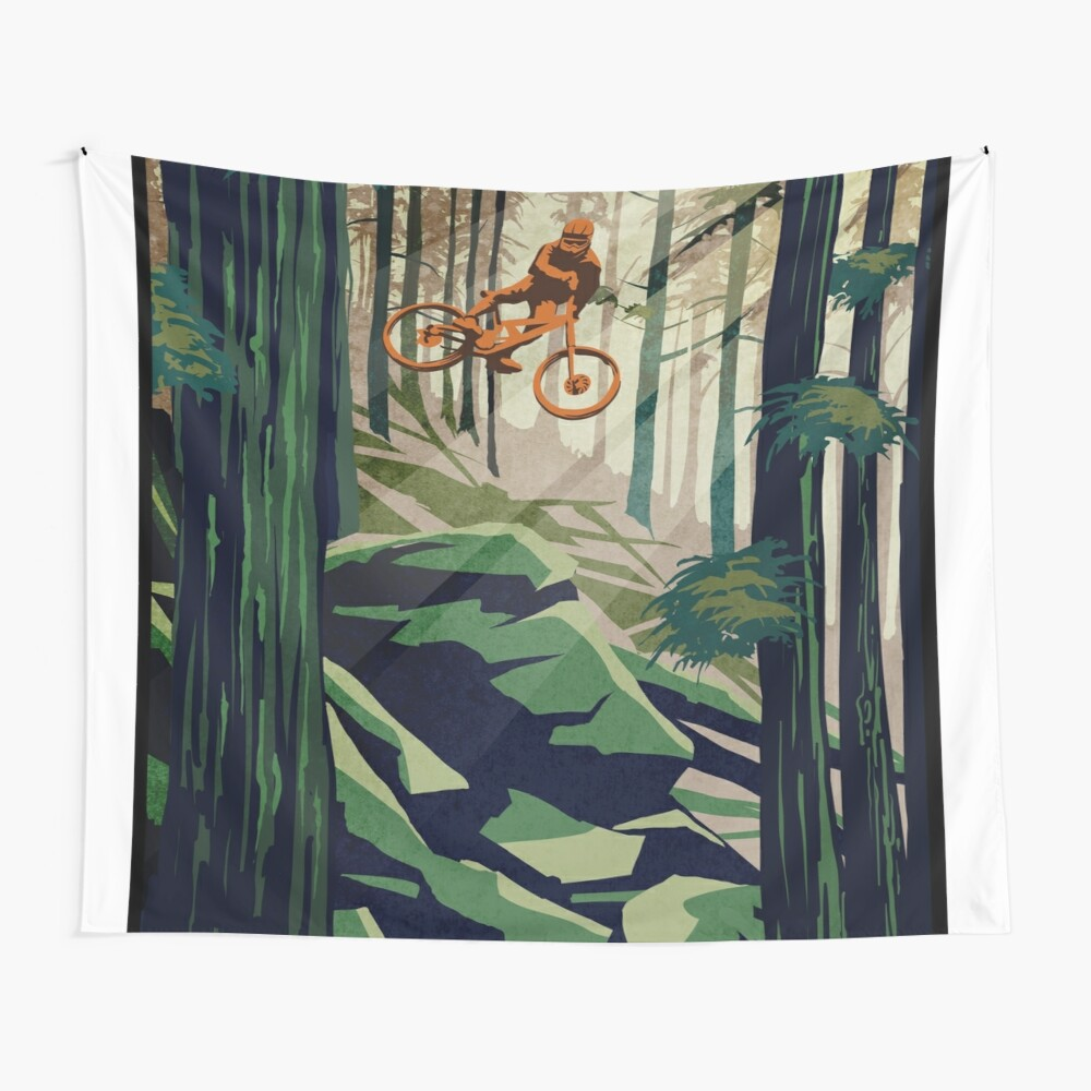 MY THERAPY: Mountain Bike! Wall Tapestry