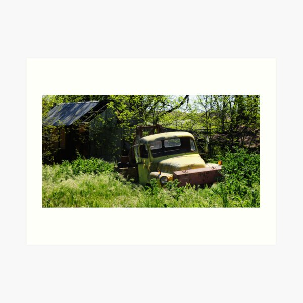 The Old Truck.  Art Print