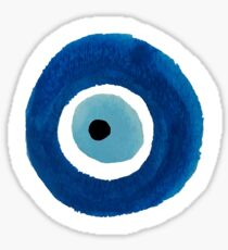 Watercolor Evil Eye (Nazar) Painting Sticker