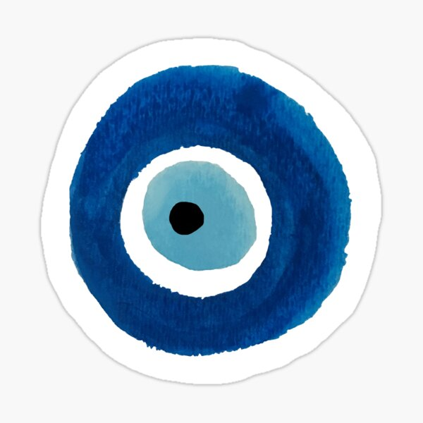 Watercolor Evil Eye (Nazar) Painting – Best Seller Sticker