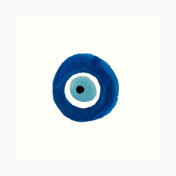 Watercolor Evil Eye (Nazar) Painting – Best Seller Art Print