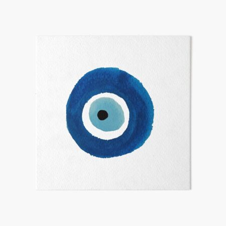 Watercolor Evil Eye (Nazar) Painting – Best Seller Art Board Print