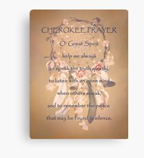 Lienzo Oración Cherokee