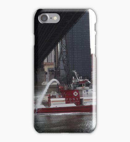 Fire Department New York Fire Boat, East River, 59th Street Bridge, New York City iPhone Case/Skin