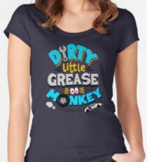 Dirty Little Grease Monkey Women's Fitted Scoop T-Shirt