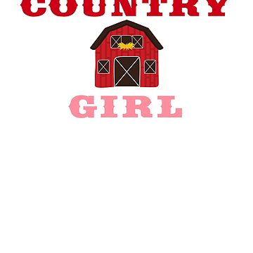 Country Girl Farm Life Barn Gift T Shirt Women and Kids by 6thave