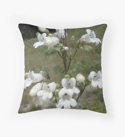 Foxglove Beard-Tongue (Foxglove Penstemon) Throw Pillow