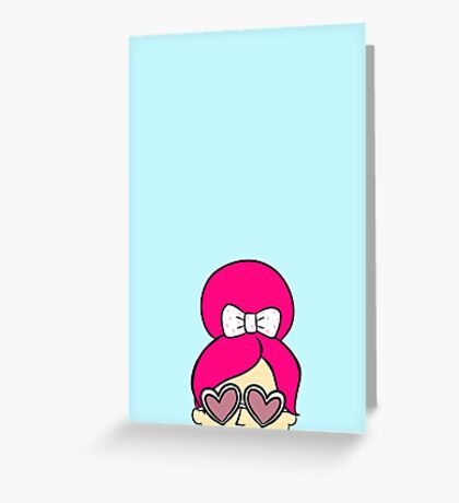 Heart Eyes Greeting Card