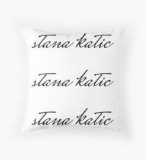 Stana Katic Throw Pillow