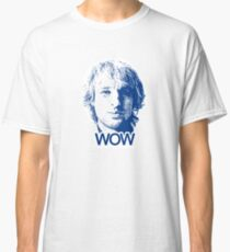 "Owen Wilson ""Wow"" - Blue on White Classic T-Shirt"
