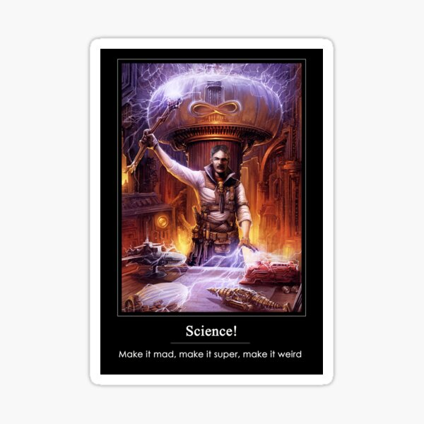 Science: Mad, Super, or Weird Sticker