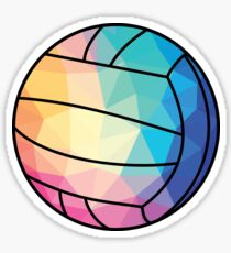 Geometric Water Polo Shape Low Poly Water Polo Gift Sticker