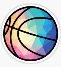 Geometrische Basketball Form Low Poly Basketball Geschenk Sticker