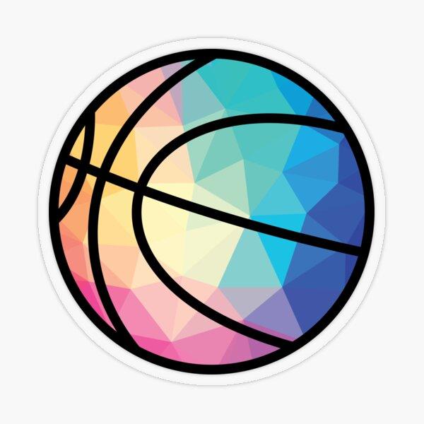 Geometric Basketball Shape Low Poly Basketball Gift Transparent Sticker