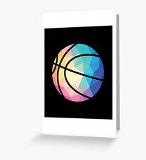 Geometric Basketball Shape Low Poly Basketball Gift Greeting Card
