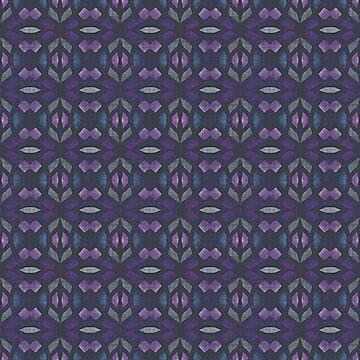 Dark Blue Violet Purple Gray Black Hip Orient Bali Art by FudgePudge