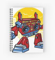 Boombox Robot Spiral Notebook