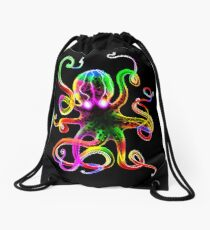 Rainbow Octopus Glow Drawstring Bag