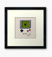 Classic white cream mini video games Framed Print