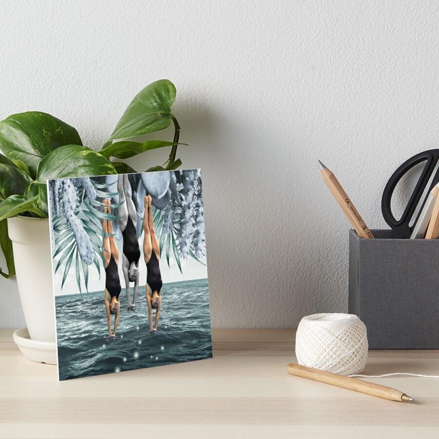 Dive Into Art Board Print