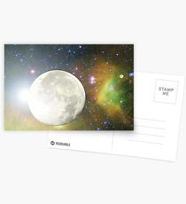 Moon and Galaxy Postcards