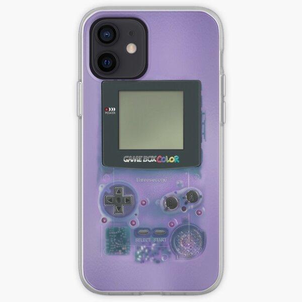 Classique mini-jeux violets transparents Coque souple iPhone