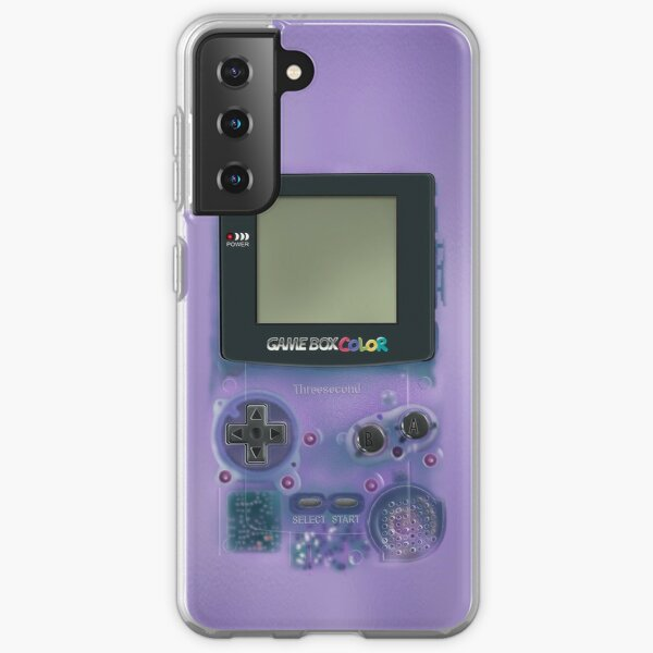 Classic transparent purple mini video games Samsung Galaxy Soft Case
