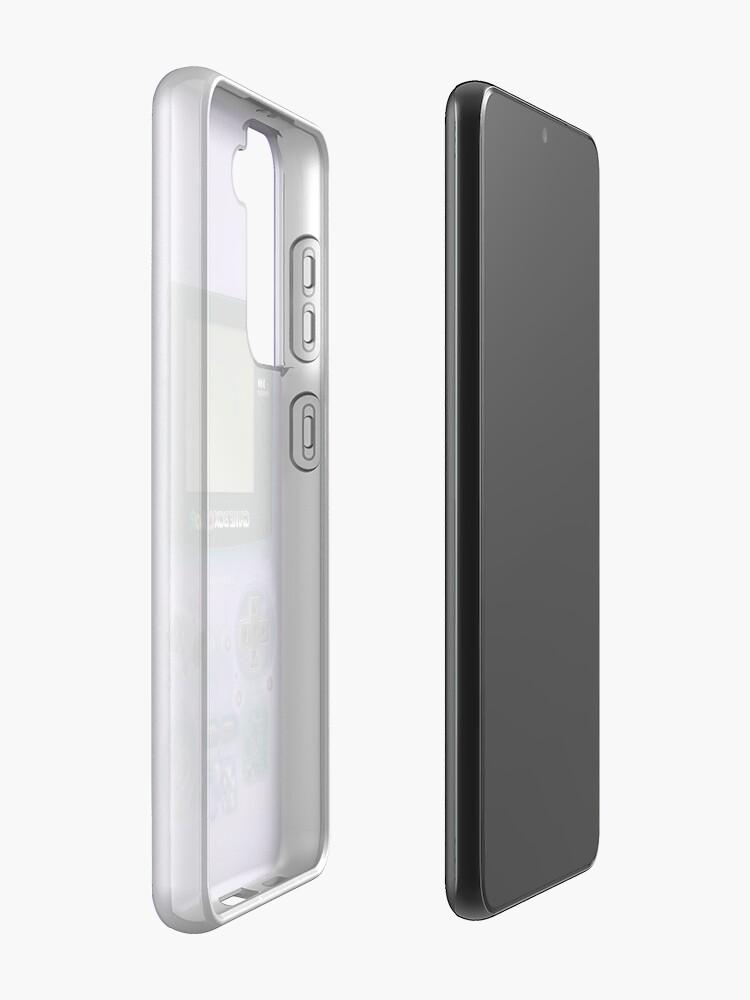 Alternate view of Classic transparent purple mini video games Case & Skin for Samsung Galaxy