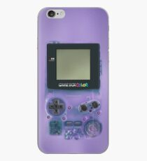 Classic transparent purple mini video games iPhone Case