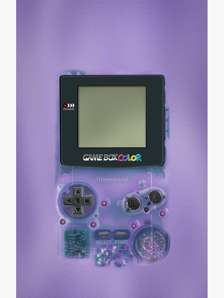 Classic transparent purple mini video games by GalihArt
