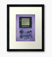 Classic transparent purple mini video games Framed Print