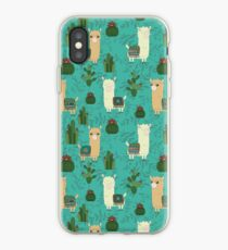 Alpaca teal iPhone Case