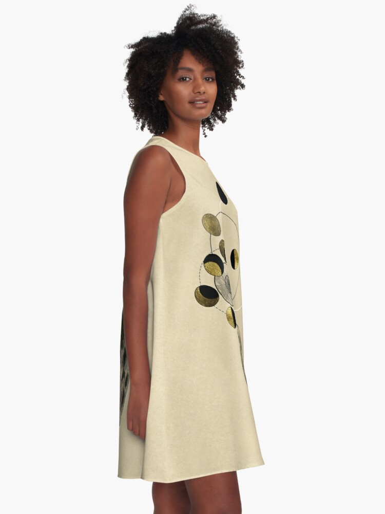 Alternate view of Phases of the Moon A-Line Dress