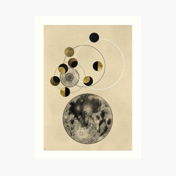 Phasen des Mondes Kunstdruck
