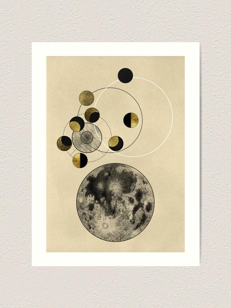 Alternative Ansicht von Phasen des Mondes Kunstdruck