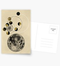 Phasen des Mondes Postkarten