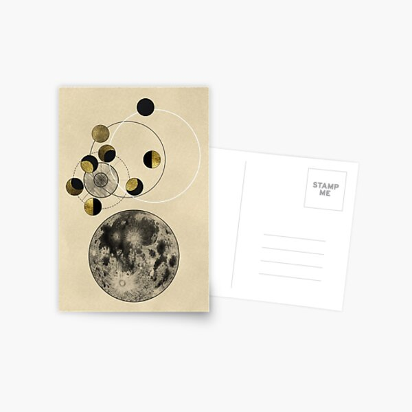 Phases of the Moon Postcard