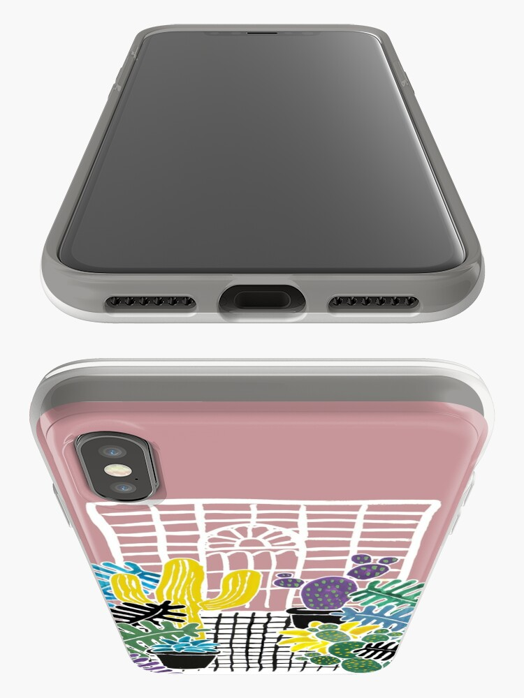 Alternate view of Cacti & Succulent Greenhouse iPhone Case & Cover