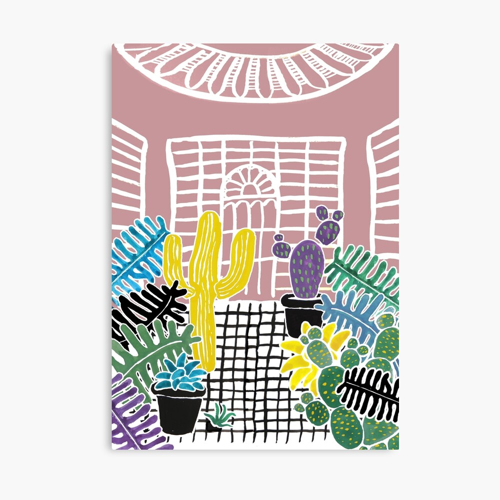 Cacti & Succulent Greenhouse Canvas Print