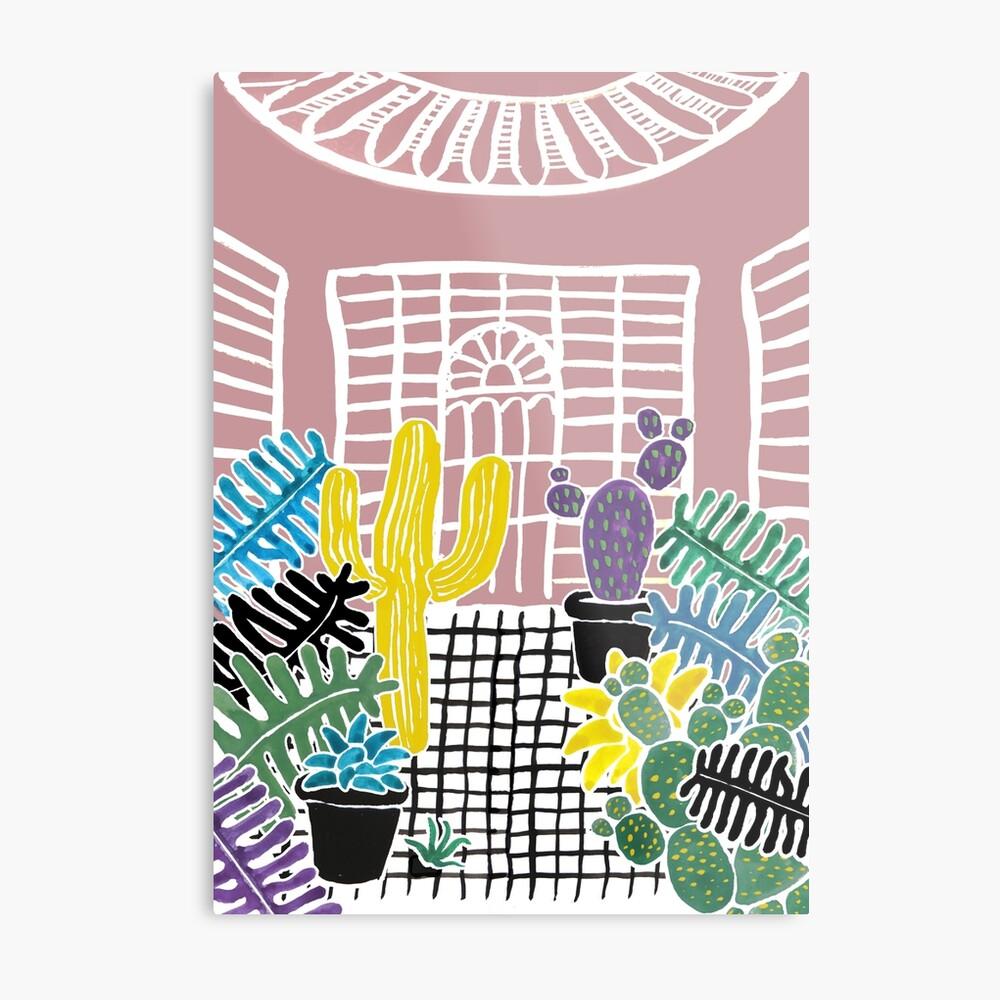 Cacti & Succulent Greenhouse Metal Print